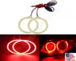 New Red Size 70mm Super Bright 60SMD COB LED Halo Ring Angel Eyes Led Car Headlight 12V DC