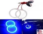 New Blue Size 70mm Super Bright 60SMD COB LED Halo Ring Angel Eyes Led Car Headlight 12V DC